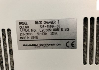 CAP LAB ANALYTIQUES Rack Changer II 9