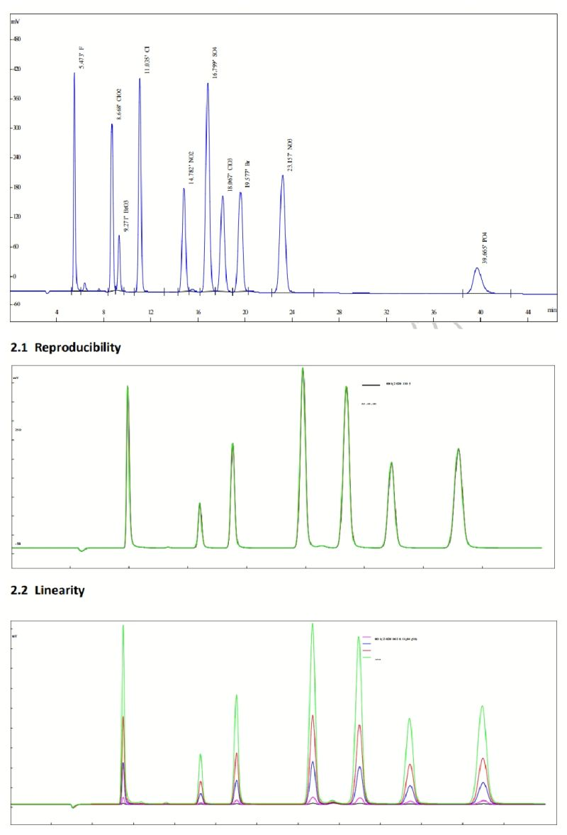 Chromatogramme COLONNE ANION SH-AC-22