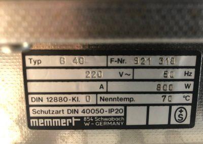Étuve MEMMERT B40 - P20040532
